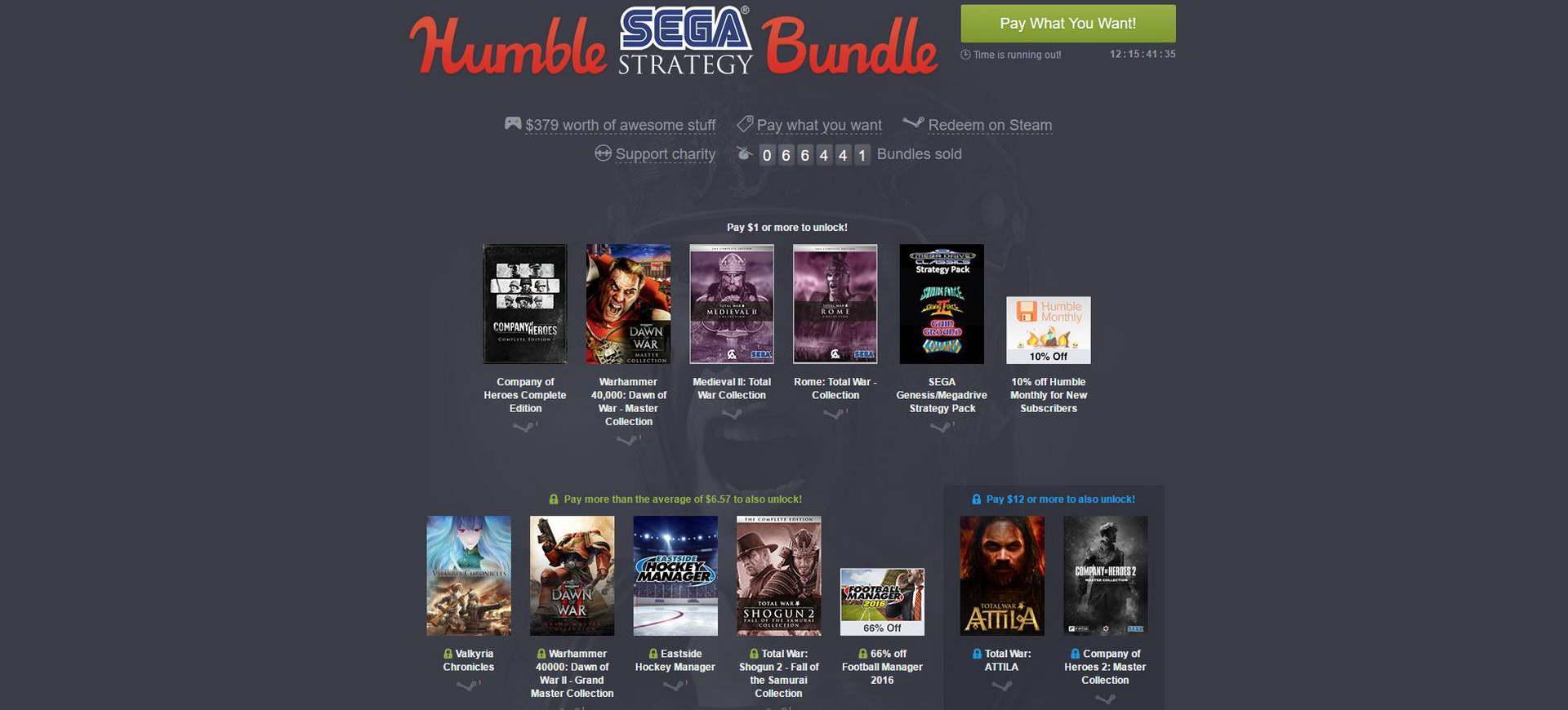 Humble Bundle giới thiệu gói Humble Sega Strategy Bundle