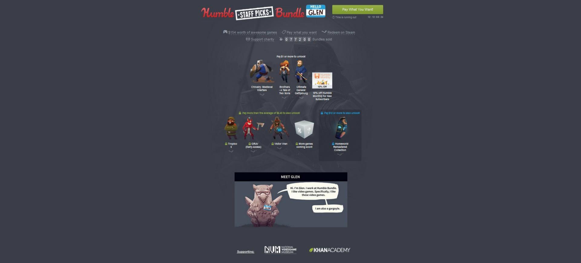 Humble Bundle giới thiệu gói game Humble Staff Picks Bundle: Glen